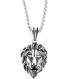 Paul Weston 891Lion King • • Chain Men's Stainless Steel Pendant. 100% Natural Materials Black Gift Box. 1Year Warranty–Decorated with ❤ in Zurich Swiss Quality