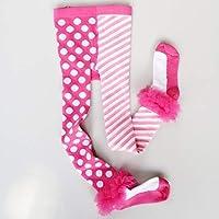 Moliies Otoño Invierno Niñas bebés Pantalones de Fondo Pantalones Cortos y cómodos de Punto Redondo a Rayas Suaves y cómodos