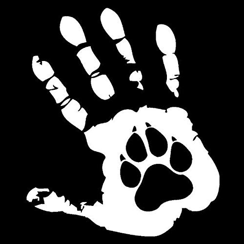 Auto Aufkleber, The Palm Dog Lustiges Auto Indien Ausgefallene Vinyl Aufkleber Aufkleber, Motorrad Laptop Fenster Dekor 10,8 Cm X 12,7 Cm 2 Stk