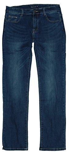 BigSpade Damen Stretch Jeans Hose gerade B7001, darkblue used, Gr.44 W34 (Size Bein Gerades Jeans Plus)