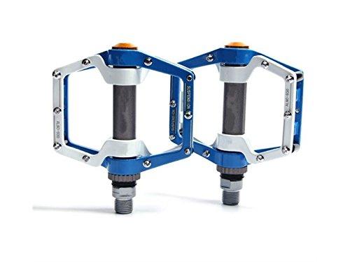 HOUHOUNNPO Pedale Aluminium Durable Professional Ersatzteile Ersatz Für Mountainbike (Blau und Weiß)