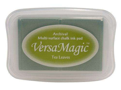 Tsukineko Versamagic Kreide-Stempelkissen, Teeblätter, Synthetic Material, Gruen 9.9 x 6.6 x 1.8 cm -