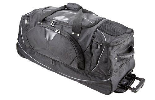 Riesen - Trolley-Tasche + Rucksackfunktion + Bodenfach - Reisetasche - Sporttasche - 81cm/115Liter