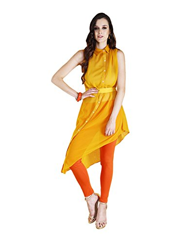 Yepme Febe Kurti Set - Mustard & Orange -- YPMSKD0096_XS