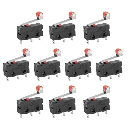 10 PCS Mini Micro Limit Switch Roller Lever Arm SPDT Snap Action Viel