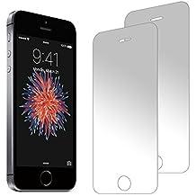 zenmo Protector de pantalla de vidrio templado 2-Pack Premium para iPhone SE/5S/5C/5