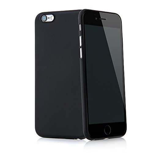 Smartphone case cover Tenuis Transparent ultra slim from Quadocta®, Policarbonato, Solid Schwarz, iPhone 6/6s (4,7