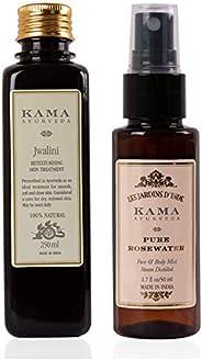 Kama Ayurveda Jwalini Retexturising Skin Treatment Oil and Pure Rose Water