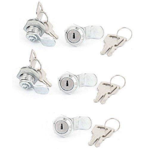 sourcingmap® Unterschrank Schublade Mailbox Handschuhfach Tür Metall Cam Lock Camlock 5x (Handschuhfach Tür)