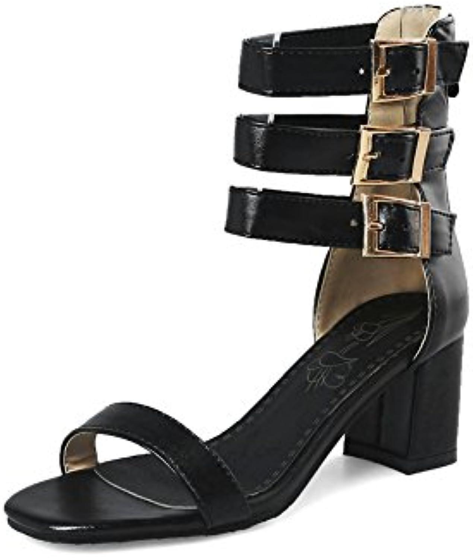 Exing Zapatos de Mujer Nuevas Sandalias de Tacón Alto Sandalias Romanas Botines Botas de Confort de Verano Punta... -