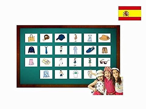 Bildkarten zur Sprachförderung in Spanisch - Kleidung - Tarjetas de vocabulario - Ropa