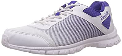 Reebok Women's Quick Lite Lp Ultima Purple,Silver and White Running Shoes - 9.5 UK