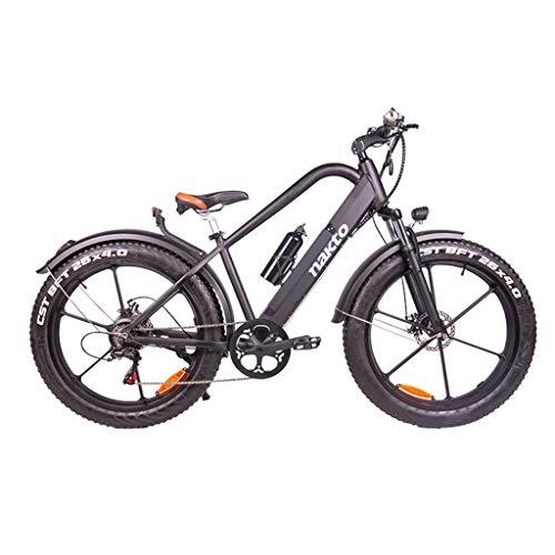 26inch Fat Tire vélo électrique 400W 48V Neige E-Bike Shimano 6 Vitesses Plage Cruiser Hommes Femmes Montagne E-Bike Pedal Assist