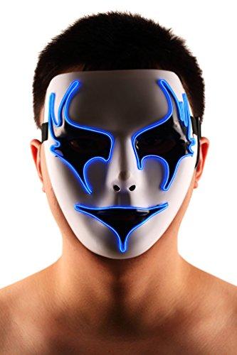 Brinny EL Wire Drahtmaske Leuchten Maske LED Leucht Leuchtmaske Make Up Partymaske mit Batterie Box Kostüme Mask Weihnachten Tanzen Party Nacht Pub Bar Klub 16