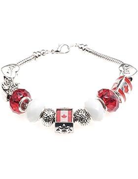 Kanada Themed Charm Armband mit Geschenk-Box Damen Schmuck