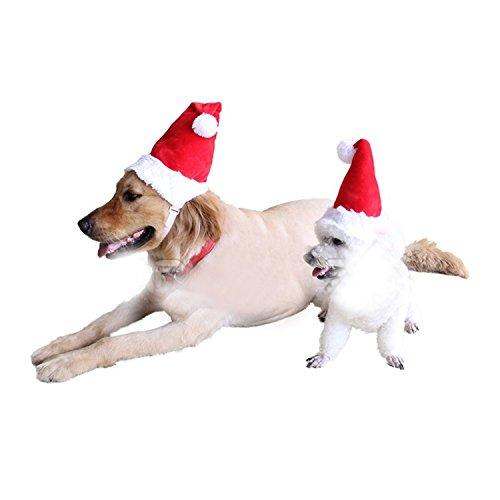 Hunde Weihnachtsmütze Katzen Nikolaus Mütze mit Gummiband (S Diameter 11cm)