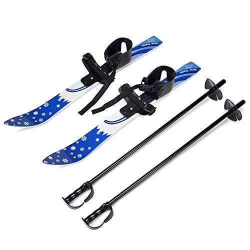 Odoland Ski-Set Kinderski All-Mountain Ski für 4 Jahre und jünger, Schneeflocke flexibel, bequem u. sicher an Allen Schuhen/Stiefeln
