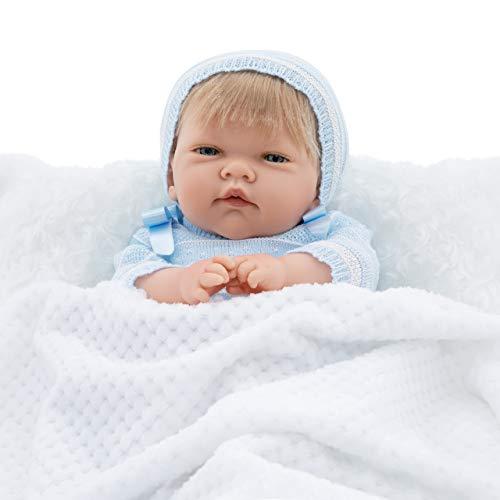 Maria Jesus Reborn Babys Simulation, Reborn Baby 45cm, Baby Puppe, babypuppe wie echtes Baby, Reborn Babys mädchen