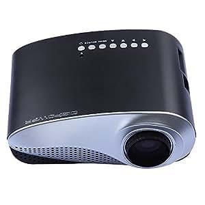 DbPower MINI Bianco Videoproiettore Proiettore Portatile HDMI/AV/TV/VGA/SD/Component Lampada HD Risoluzione: Nativa 480 * 320, 1024 * 768 Supporto 1080P FULL LED LAMPADA LCD TV Analogica HDMI Home Cinema Videoproiettore HDMI 1080i TV Per Wii Xbox PS3