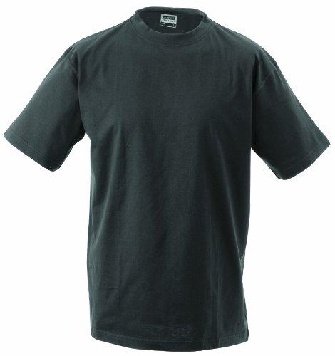 James & Nicholson Herren Komfort T-Shirt Rundhals Grau (Graphite)