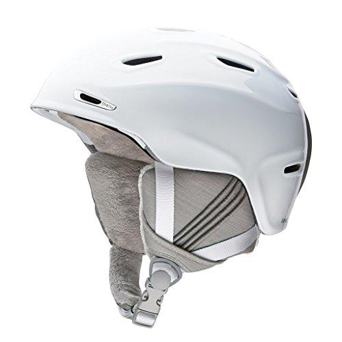 SMITH Arrival Casque de Ski Femme, Blanc, Taille 51-55