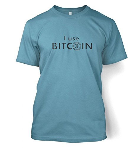I Use Bitcoin t-shirt Stone Blau