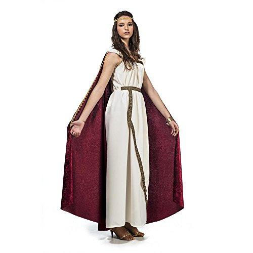 �stüm für Damen | Gr. XS - XL | weiß Griechin Römerin Antike Sparta Königin Göttinkostüm, Größe:M ()