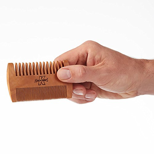 King-of-Shaves-Pear-Wood-Anti-Static-Beard-Comb