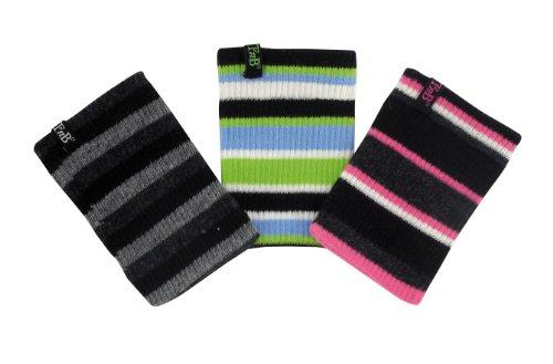 Stretch-söckchen (T'nB 3 Etui Söckchen APN kompakt Stretch gestreift grau/rosa/grün)
