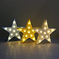 Marquee Sign Star Night Light AOTOM Star Decorative Light Home Decorative Sign Led Marquee Sign for Baby Kids Children Bedroom Shop Décor Light Sign Gifts (1pack,Yellow Star)