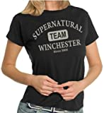 Team Winchester LADIES T-Shirt Black/Silver, M