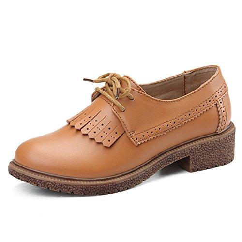 Primavera / Autunno Scarpe Tempo Libero,Pelle Scarpe Piatte,Calzature Donna,Inghilterra Stile Scarpe Da Donna,Flat Shoes Di Luce A