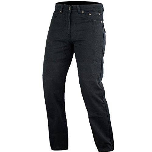 Bikers Gear Kevlar Stretch Denim Slim Fit Motorrad Jeans CE Armour, Schwarz, Größe 3X L/S