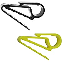 Injoyo 2Pcs Bolsa De Golf Handy Cigar Holder Clip Minder Grip Clip Clamp para Regalo De Golfista
