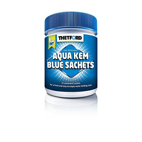 41Qs2paNrVL. SS500  - Thetford 202196/0619 Aqua Kem Blue Toilet Sachets, Blue, 375g (15 x 25 g)