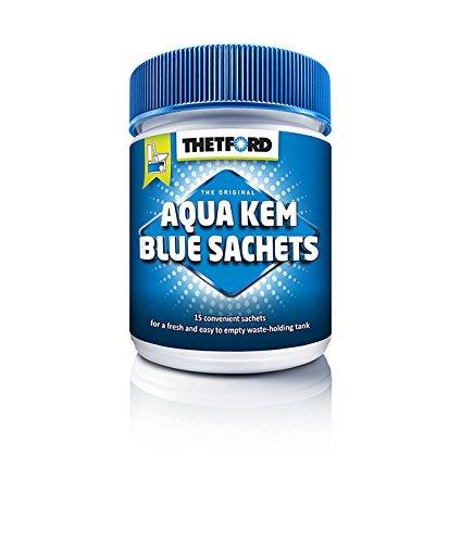41Qs2paNrVL - Thetford 202196/0619 Aqua Kem Blue Toilet Sachets, Blue, 375g (15 x 25 g)