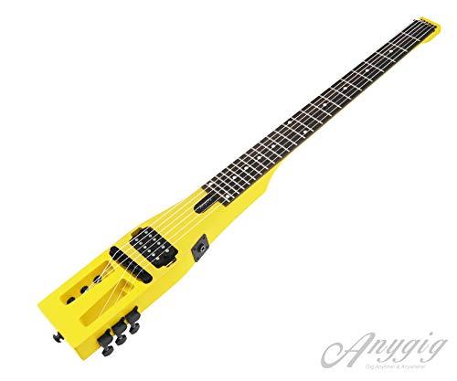 Anygig AGESE E-Gitarre Palisander Sonokelin Matte Corvette Gelb 2-Wege-Halsstab -