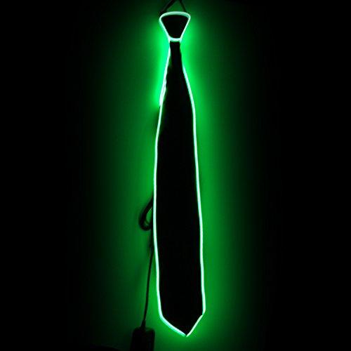 LED leuchten Krawatten Kostüm Zubehör für neue Jahre Rave Party leuchten Krawatte (Grün)