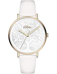 s.Oliver Damen Analog Quarz Uhr mit Kunstleder Armband SO-3870-LQ