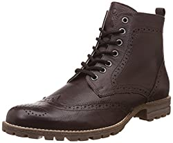United Colors of Benetton Mens Brown (902) Leather Boots - 7 UK/India (41 EU)