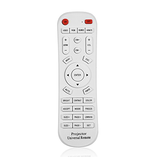 Zerone Mando a distancia para proyector, mando a distancia universal, color blanco