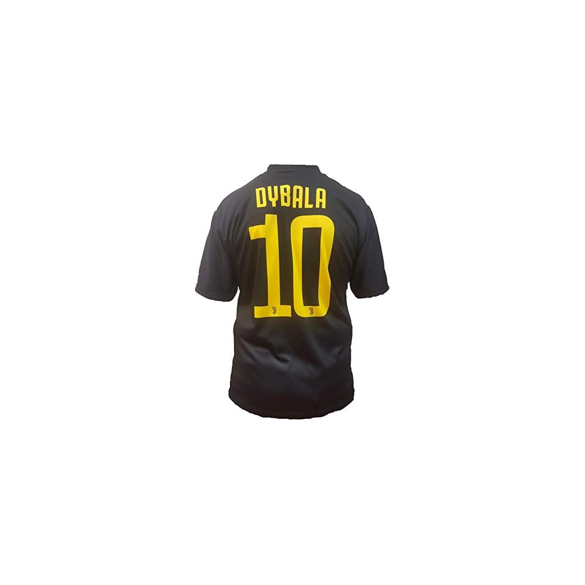 251c959ca Camiseta de Fútbol Paulo Dybala 10 Juventus Tercera Camisa Negra Temporada  2018-2019 Replica Oficial