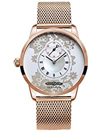 Zeppelin Damen-Armbanduhr Viktoria Luise Analog Quarz Edelstahl beschichtet 7331M5