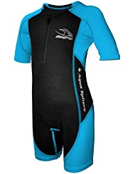 Esfera Aqua nios Stingray ncleo azul traje buceo calentador - talla 2 (25-35lbs)