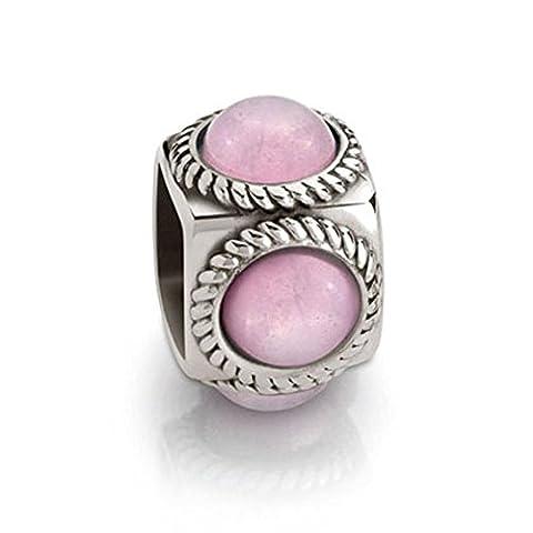 Nomination–Perle en argent 925cubiamo Jade Rose ovales–163303/003