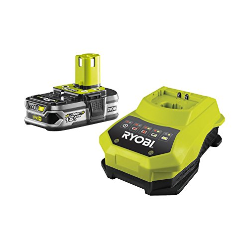 Ryobi RBC18L15 ONE Plus 18V Batterie + Chargeur 18 V 1,5 Ah Li-Ion  5133001910 + prise électrique inclus