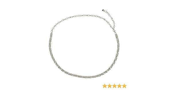 95433628c2df FASHIONGEN - Ceinture chaîne médaillon pour femme LAURRAINE - Argenté,  Taille unique  Amazon.fr  Vêtements et accessoires