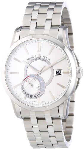 Maurice Lacroix Regent M Unisex [Automatico] Watch with Silver Dial Analogue Display and Stainless steel plated gun metal