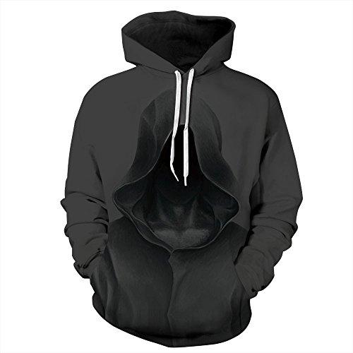 Quicksilver Kostüm Jacke - DAXIAL Kapuzenpullover Männer Und Frauen 3D Neuheit Muster Print Pullover, Hoodie Sportswear Jacke, XXXL