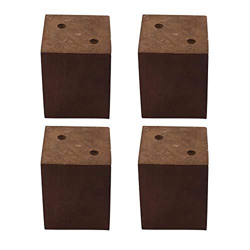 Möbelfüße, 4Pcs 80Mm Höhe Schwarz Möbelteile Sofa Beine Kiefernholz-Möbelfüße Pine Wood Sofa Couch Kabinett Beine Ersatz Zubehör